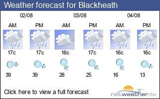 Weather forecast for Blackheath