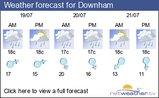 Weather forecast for Downham