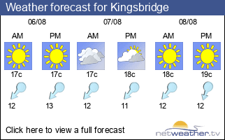 Weather forecast for Kingsbridge