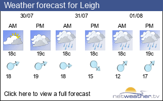 Weather forecast for Leigh