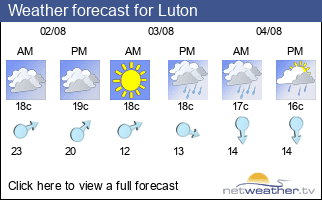 Weather forecast for Luton