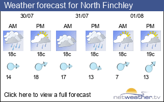 Weather forecast for North Finchley