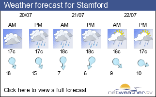 Weather forecast for Stamford