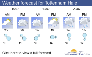 Weather forecast for Tottenham Hale