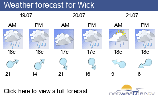 Weather forecast for Wick