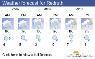 Weather forecast for Redruth