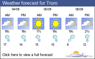 Weather forecast for Truro