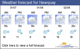 Weather forecast for Newquay
