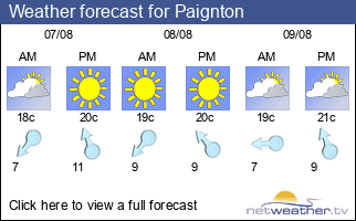 Weather forecast for Paignton