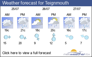 Weather forecast for Teignmouth