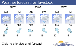 Weather forecast for Tavistock