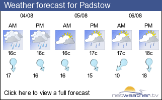 Weather forecast for Padstow