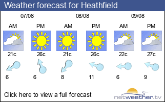 Weather forecast for Heathfield