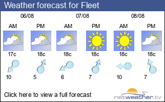 Weather forecast for Fleet