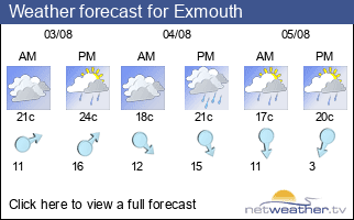 Weather forecast for Exmouth