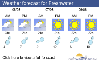 Weather forecast for Freshwater