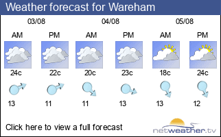 Weather forecast for Wareham
