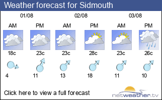 Weather forecast for Sidmouth