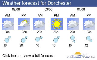 Weather forecast for Dorchester