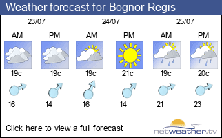 Weather forecast for Bognor Regis