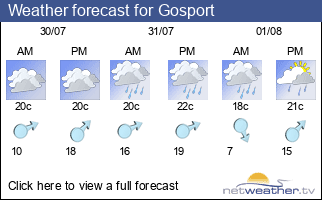 Weather forecast for Gosport