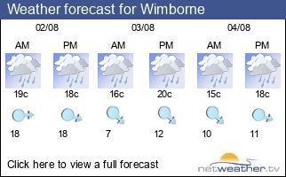 Weather forecast for Wimborne