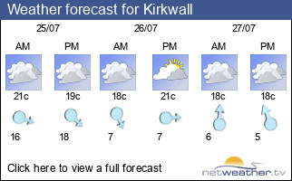 Weather forecast for Kirkwall