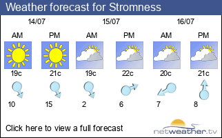 Weather forecast for Stromness
