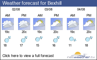 Weather forecast for Bexhill