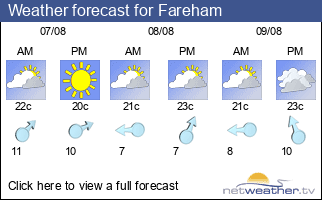 Weather forecast for Fareham