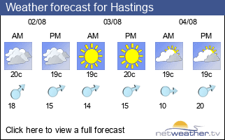 Weather forecast for Hastings