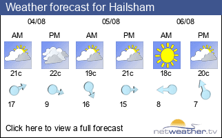 Weather forecast for Hailsham