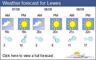 Weather forecast for Lewes