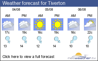 Weather forecast for Tiverton