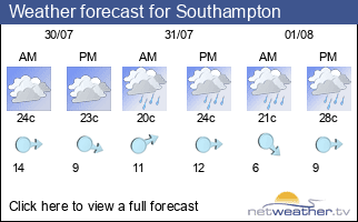 Weather forecast for Southampton