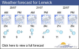 Weather forecast for Lerwick