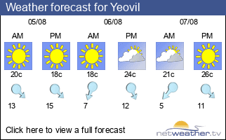 Weather forecast for Yeovil