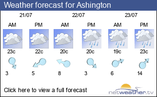 Weather forecast for Ashington