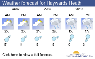 Weather forecast for Haywards Heath