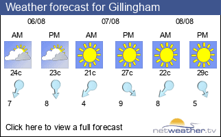 Weather forecast for Gillingham