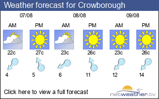 Weather forecast for Crowborough