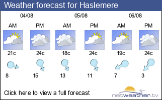 Weather forecast for Haslemere