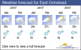 Weather forecast for East Grinstead