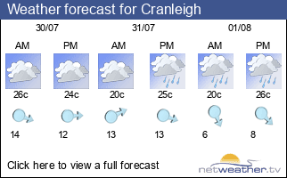 Weather forecast for Cranleigh