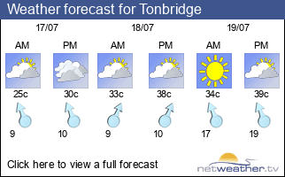 Weather forecast for Tonbridge