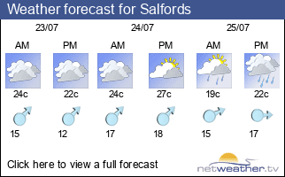 Weather forecast for Salfords