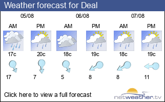 Weather forecast for Deal