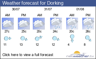 Weather forecast for Dorking