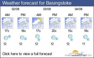 Weather forecast for Basingstoke