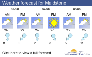 Weather forecast for Maidstone